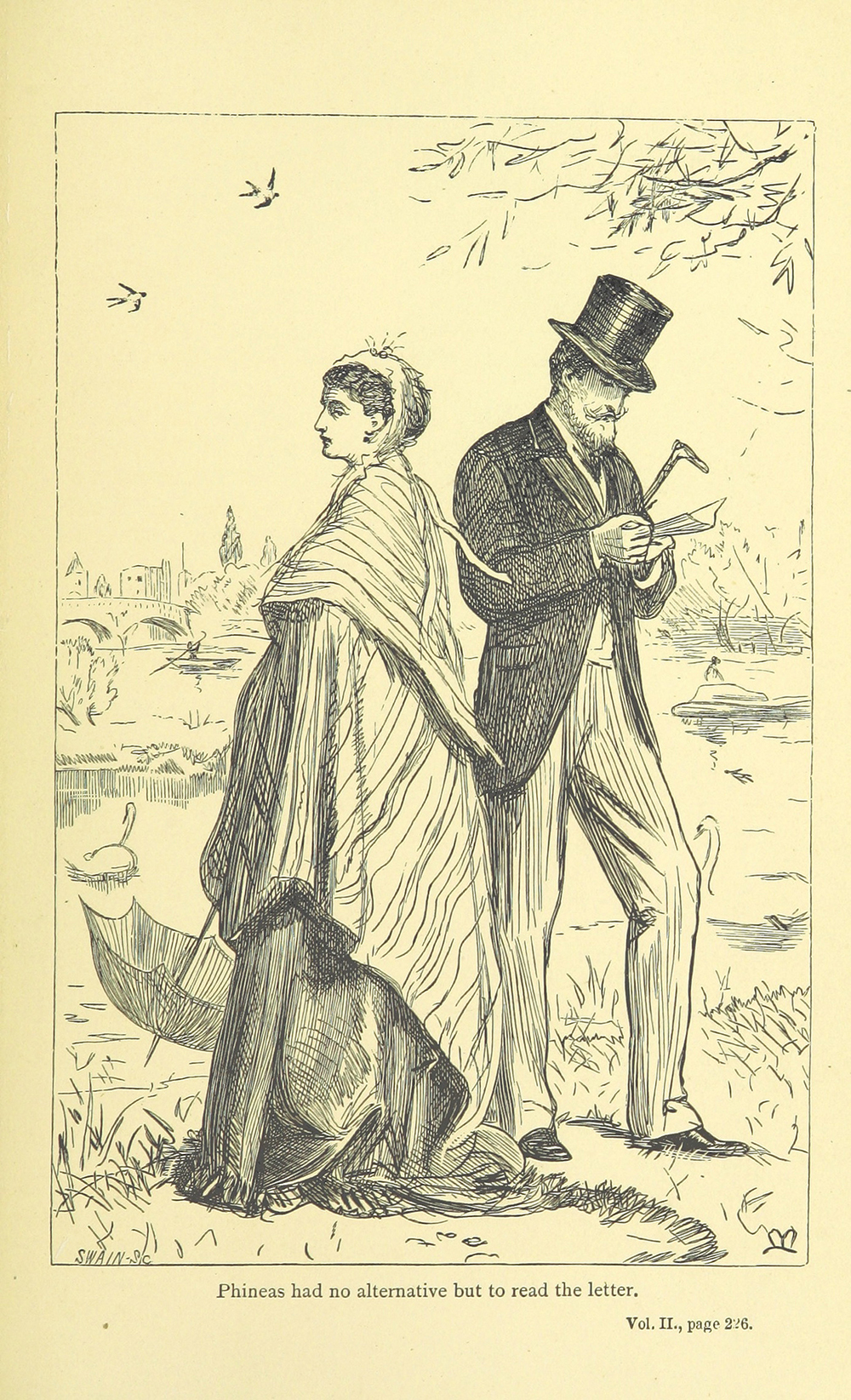 Lady Laura Standish and Phineas Finn, illustration 1867
