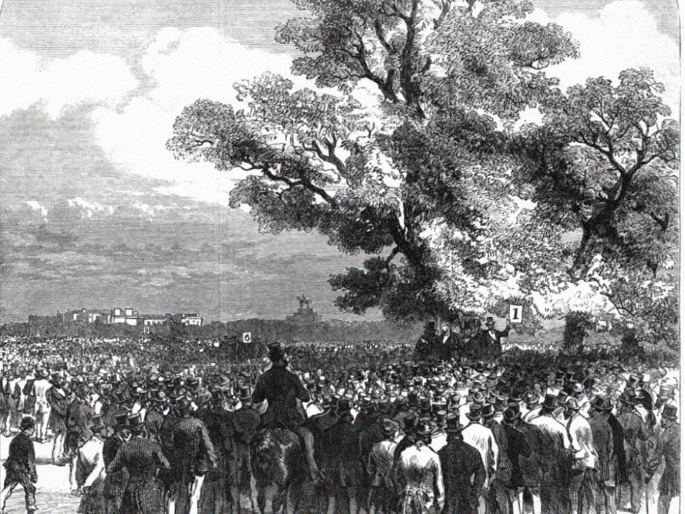 Demonstrations in Hyde Park, 1867