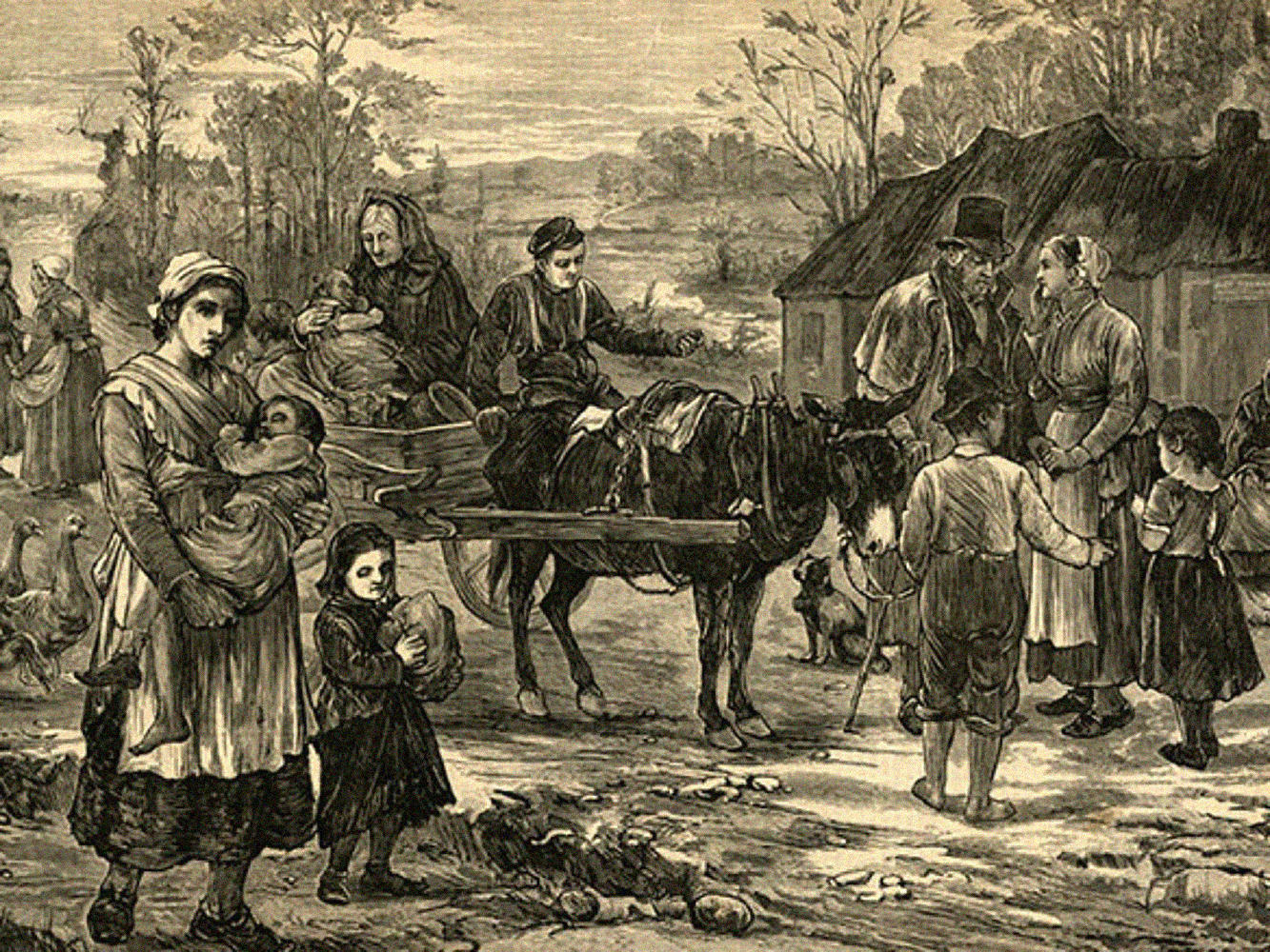 Image of an Irish eviction, 1871